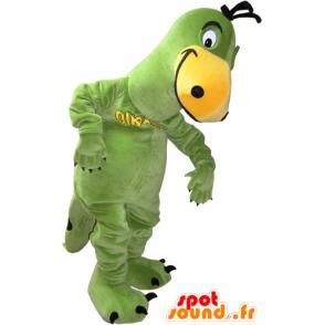 Grün und gelb Dinosaurier Maskottchen - MASFR032834 - Maskottchen-Dinosaurier