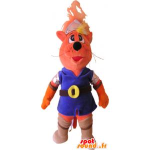 Mascotte de chat en tenue colorée - MASFR032841 - Mascottes de chat