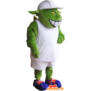 Monster mascot, alien, green alien - MASFR032847 - Missing animal mascots