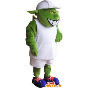 Monster Mascot, vreemd, groene vreemdeling - MASFR032847 - uitgestorven dieren Mascottes