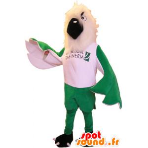 Mascot impressive green and white eagle - MASFR032854 - Mascot of birds