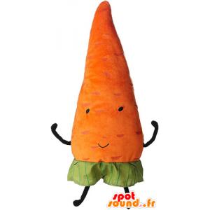 πορτοκαλί μασκότ καρότο, γίγαντας. λαχανικών μασκότ - MASFR032856 - φυτικά μασκότ