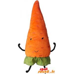Oranje wortel mascotte, reus. plantaardige mascotte - MASFR032856 - Vegetable Mascot