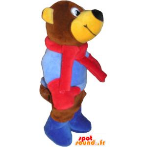 Brown teddy mascot. Teddy bear - MASFR032857 - Bear mascot