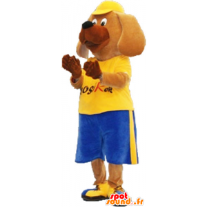 Mascot big dog in sportswear with a cap - MASFR032862 - Sports mascot