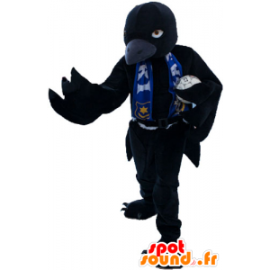 Big black bird mascot to look fierce - MASFR032863 - Mascot of birds