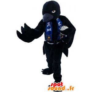 Wielki czarny ptak maskotka wyglądać zacięta - MASFR032863 - ptaki Mascot