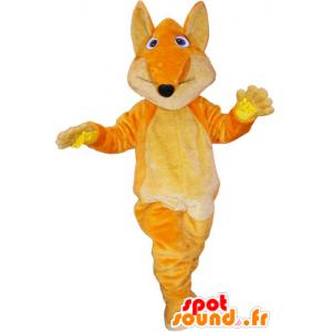 Orange riesiger Fuchs-Maskottchen mit einem großen Schwanz - MASFR032874 - Maskottchen-Fox