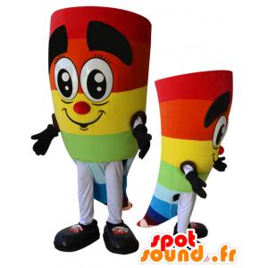 Jovial Schneemann Maskottchen Multicolor - MASFR032887 - Menschliche Maskottchen