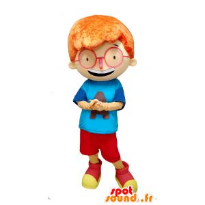 Maskotka rude boy z dużymi okularami - MASFR032904 - Maskotki Boys and Girls