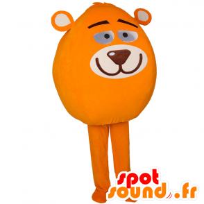 Schneemann Maskottchen ganze mit einem Teddy Kopf - MASFR032911 - Menschliche Maskottchen