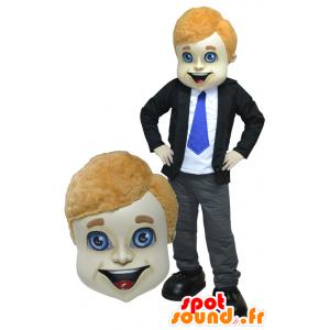 Maskottchen-Mann Einkaufen in einem Anzug und Krawatte - MASFR032914 - Menschliche Maskottchen