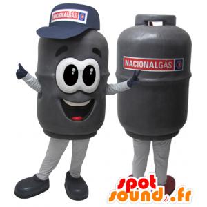 Flasche Maskottchen realistisch grau Gas - MASFR032925 - Maskottchen von Objekten