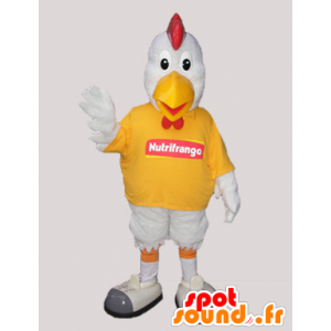 Mascotte gallo bianco. pollo mascotte - MASFR032931 - Mascotte di galline pollo gallo
