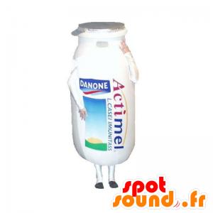 Pullo maskotti Actimel Danone, on maitojuoma - MASFR032933 - ruoka maskotti