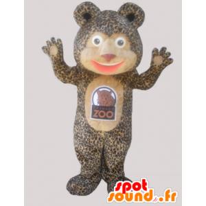 Teddy mascot with a leopard coat - MASFR032936 - Bear mascot
