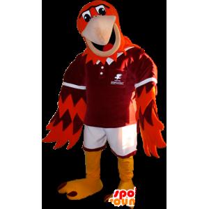 Mascot red bird, yellow and orange - MASFR032937 - Mascot of birds