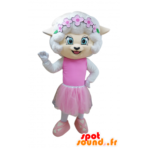 White mouse mascot dancer outfit - MASFR032938 - Mouse mascot