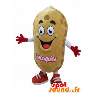 Mascot very realistic giant peanut - MASFR032941 - Fast food mascots