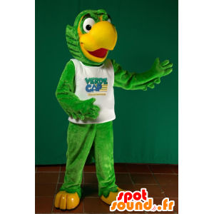 Mascot big green and yellow parrot - MASFR032945 - Mascots of parrots