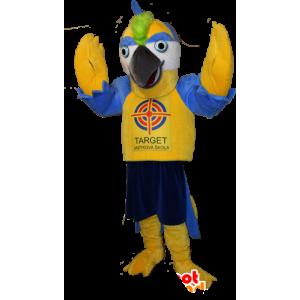 Keltainen ja sininen jättiläinen lintu maskotti - MASFR032946 - maskotti lintuja