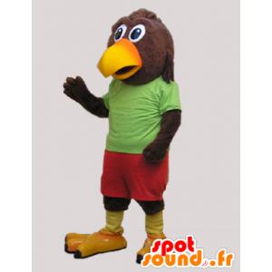 Brązowy i żółty ptak gigant maskotka - MASFR032948 - ptaki Mascot