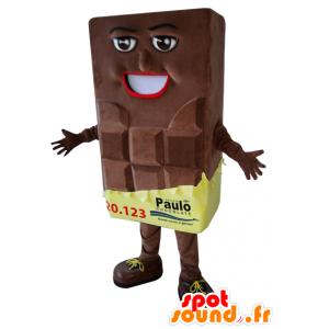 Mascotte de barre de chocolat géante - MASFR032950 - Mascotte alimentaires