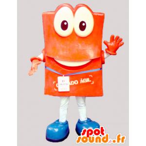Orange Schneemann Maskottchen mit großen Augen - MASFR032953 - Menschliche Maskottchen