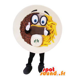 Trim mascot topped steak fries - MASFR032967 - Fast food mascots