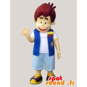 Jongen gekleed mascotte van een vest en shorts - MASFR032971 - Mascottes Boys and Girls