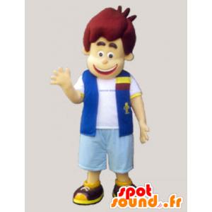 Poika pukeutunut maskotti liivi ja shortsit - MASFR032971 - Maskotteja Boys and Girls