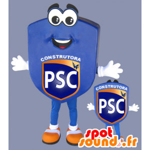 Blasone blu mascotte, club sportivo - MASFR032974 - Mascotte sport