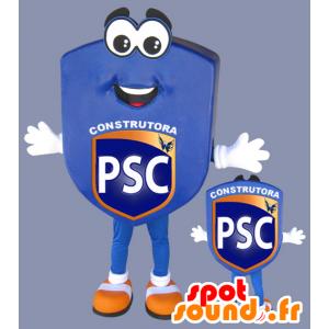 Niebieski godło maskotka, klub sportowy - MASFR032974 - sport maskotka