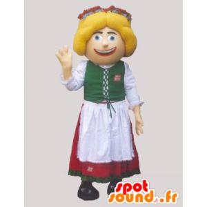 Mascotte de Hollandaise, d'Autrichienne en costume traditionnel - MASFR032989 - Mascottes de chien