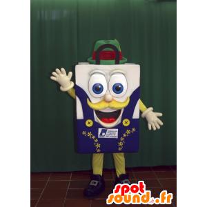 Shopping bag mascot, shopping bag smiling - MASFR032992 - Bear mascot
