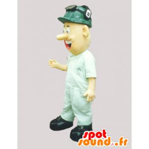 Mascotte mens gekleed in arbeider met een bouwvakker - MASFR032997 - man Mascottes