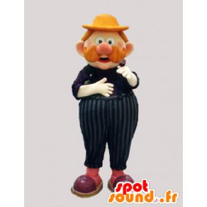 Maskotti punahiuksinen mies viikset ja iso vatsa - MASFR033017 - Mascottes Homme