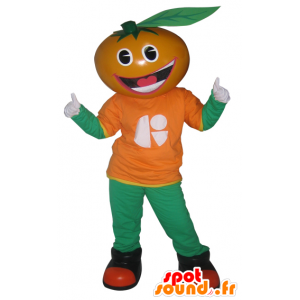 Mascote laranja, clementina, tangerina - MASFR033032 - frutas Mascot