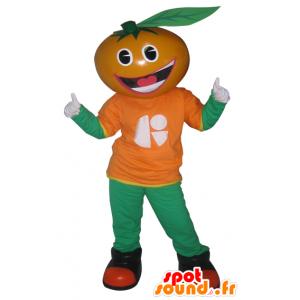 Oransje maskot, klementin, mandarin - MASFR033032 - frukt Mascot