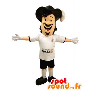 Man Maskottchen, Musketier mit einem schönen Hut - MASFR033047 - Menschliche Maskottchen