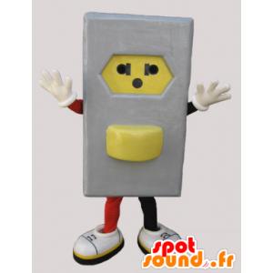 Mascot cinzento e tomada eléctrica amarelo - MASFR033049 - objetos mascotes