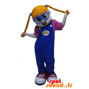 Menina ruiva Mascot com edredões - MASFR033055 - Mascotes Boys and Girls