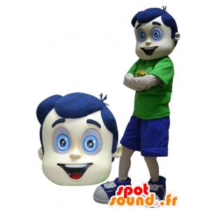 Mascot jongen met haar en blauwe ogen - MASFR033060 - Mascottes Boys and Girls