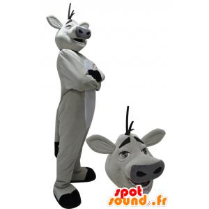 Bianco e nero mucca mascotte gigante