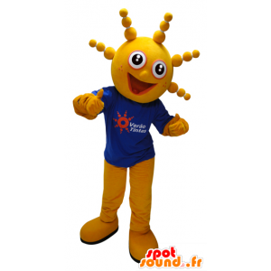 Muñeco de nieve amarillo mascota de la cabeza redonda divertida - MASFR033075 - Mascotas humanas