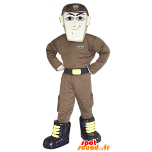 Μασκότ άνθρωπος φουτουριστική στολή, μασκότ υπερήρωα - MASFR033081 - Ο άνθρωπος Μασκότ