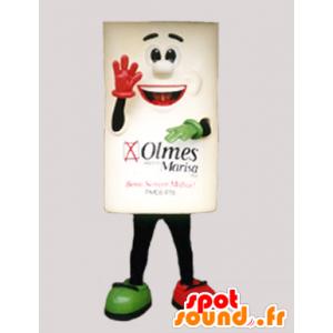Mascotte de brique, de bonhomme carré souriant - MASFR033085 - Mascottes Homme