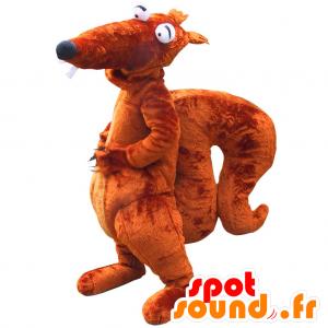 Mascot ruskea jättiläinen orava kanssa iso kalu - MASFR033090 - maskotteja orava