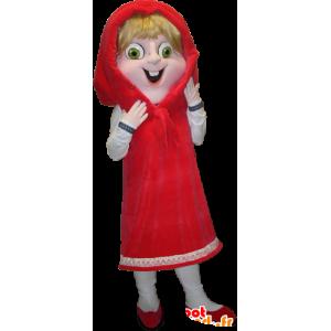 Mascotte de chaperon rouge blonde aux yeux verts - MASFR033092 - Mascottes Humaines