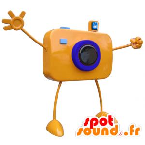 πορτοκαλί μασκότ κάμερα γίγαντας με τα μεγάλα όπλα - MASFR033101 - μασκότ αντικείμενα